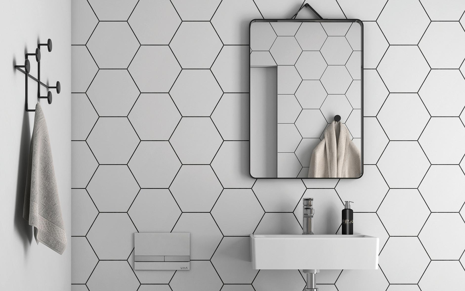 3D-rita upp ditt eget badrum. Stora delar av vårt kakel- och klinkersortiment finns tillgängligt.